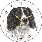 Springer Spaniel Dog Print Round Wall Clock - Available in 2 Designs