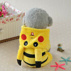 Dog Clothes Cute Pikachu Puppy Pet Costume Cartoon Spring Hoodie Coat Jumpsuit