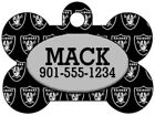 Oakland Raiders Custom Pet Id Dog Tag Personalized w/ Name & Number $9.42 USD on eBay