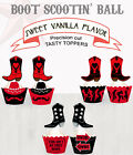 Cowboy Boots Birthday Party Line Dancing Wild West Cupcake Toppers cup cake