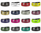 CONCITOR Reversible Belt Wide Solid Colors Black Bonded Leather Silver-Tone Bkle