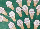 ICE CREAM FLAVOUR INDICATORS TAGS ACRYLIC WITH ECO SOLVENT PRINTED VINYL