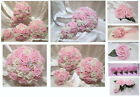 WEDDING FLOWERS BABY PINK AND IVORY OR WHITE ROSES BOUQUET POSIES WANDS CORSAGES