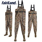 Military chest fishing waders w/stocking foot wading pants boots fly fishing kit