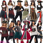 Ladies Pirate Captain Shipmate Buccaneer Adult Womens Fancy Dress Costume