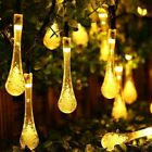 Solar String Lights 30 LED Waterproof Water Drop Lights 20Ft 30 Leds