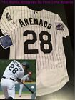 NEW Majestic Nolan Arenado Colorado Rockies #28 Men's Home / White Jersey
