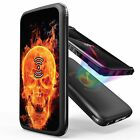 10,000mAh Qi Wireless Charge Power Bank Portable External Battery PUNISHER Skull