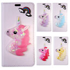 High Quality 3D Rainbow Unicorn  Flip PU Wallet Phone Case Cover For ACER