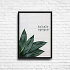 Inhale Exhale Poster Print * Inspirational Motivational Quotes A3 A4 Size +FRAME