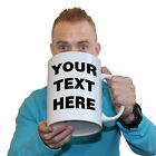 Funny Mugs - Your Text Here Custom - Christmas gift GIANT NOVELTY MUG