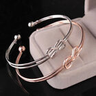 Love Twist Titanium Jewelry Bangle Stainless Steel Knot Cuff Bow-knot Bracelet image