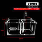 2-6 Grids Acrylic Aquarium Fish Tank External Hang On Filter Box Without Pump