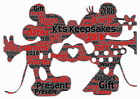 word art picture personalised gift present keepsake Minnie & Mickey mouse Disney