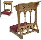 GOTHIC PADDED KNEELER HANDCRAFTED EASTERN OAK CHURCH MAPLE WOOD prayerbooklets