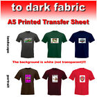 Personalised Printed T-shirt Transfer Sheet - Custom Photo Text Image Logo Print