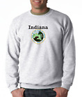 Gildan Crewneck Sweatshirt City State Country Indiana State Seal 2018