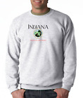 Gildan Long Sleeve T-shirt City State Country Indiana Seal Home Sweet Home