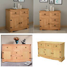 Large Oak Pine Sideboard Buffets Cupboard Cabinet and Doors Drawers Furniture