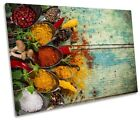 Herbs Spices Food Kitchen Framed SINGLE CANVAS PRINT Wall Art