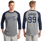 New York Yankees Aaron Judge 99 Men's or Youth 3/4 Sleeve Jersey Navy and White on Ebay
