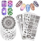 BORN PRETTY Pop Theme Nail Stamping Plates Christmas Floral Roses Templates