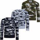 Kids V-neck Camouflage Knitted Jumper Boys Pullover Long Sleeve Sweater 3-12 Y