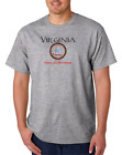 USA Made Bayside T-shirt USA State Seal Virginia Home Sweet