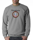 Gildan Long Sleeve T-shirt USA State Seal Virginia Big