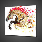 HORSE GEOMETRIC PATTERN  CANVAS PICTURE PRINT WALL ART HOME DECOR FREE DELIVERY