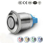 5~240V 16mm Car LED Power Push Button ON/OFF Switch Self-locking Latching Kits