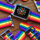 3 RING PVD HEAVY Ballistic Nylon Military Watch Strap Band For Apple Watch 38 42