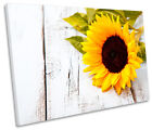 Sunflower Floral Flower Picture SINGLE CANVAS WALL ART Print
