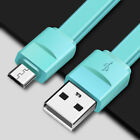 20CM Long Flat Candy Cable Micro USB Data Sync Charging Cable Cord For Samsung