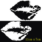 PET Sexy Kiss Mark Skull Lip Car Sticker Waterproof Window Bumper Vehicle Decal