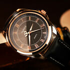 Men Fashion Business Watch Analog Roman Number Leather Wrist Watch's Y336 image