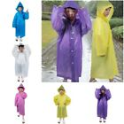 Kids Waterproof Hooded Jacket Rain Poncho Raincoat Cover Sleeve Long Rainwear X1