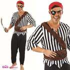 Mens First Mate Pirate Caribbean Costume Adult Buccaneer Fancy Dress Outfit