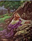 CHRIST IN GETHSEMANE Sallman 1941 VINTAGE COLLECTIBLE Lithograph Print of Jesus