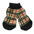 Dog Socks - Tartan Winter Dog Socks - Pk 4 - RichPaw - Non Slip S to XL