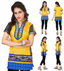UK STOCK - Women Fashion Indian Short Kurti Tunic Kurta Top Shirt Dress 106C