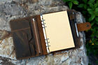 Vintage A5 Size Leather Organizer Agenda /Refillable binder Diary Travel journal