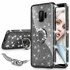 Samsung Galaxy S9 Case Protective Girls Women Diamond Cover Glitter Shiny Black