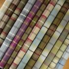 Porter + Stone Wool Effect Balmoral Tartan Plaid Curtain Upholstery Fabric
