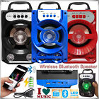 Portable Wireless Bluetooth Audio Speakers Stereo Super Bass w/ USB/TF/FM Radio