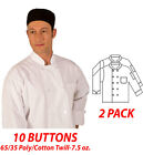 550WH-Classic Chef Coat White Color Long Sleeve Chef Jacket