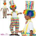Boys Clown Costume Circus Carnival Kids Childs Hoop Fancy Dress Outfit