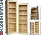Solid Pine Bookcase, 6ft x 2ft Adjustable Display Shelving Unit, Bookshelves