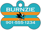 San Jose Sharks Custom Pet Id Dog Tag Personalized w/ Name & Number $9.87 USD on eBay