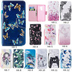 Flip Patterned Pu Leather Card Pocket Wallet Stand Strap Case Soft Cover Bumper